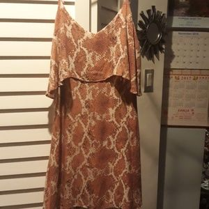snakeskin pattern cover up or dress